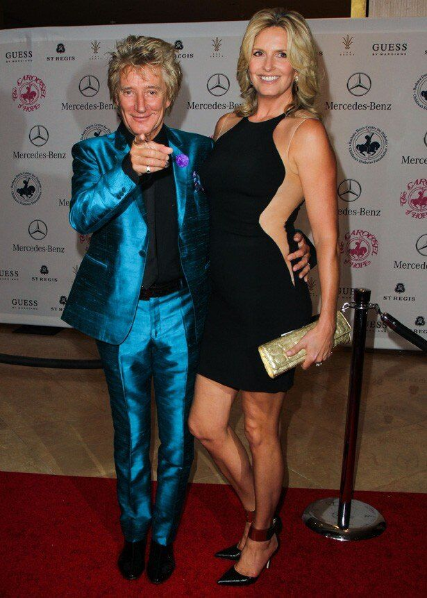 ロッド・スチュワートと妻のペニー・ランカスター