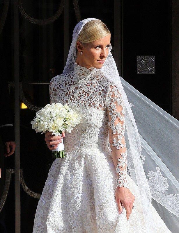 約950万円のドレスで挙式をしたニッキー・ヒルトン