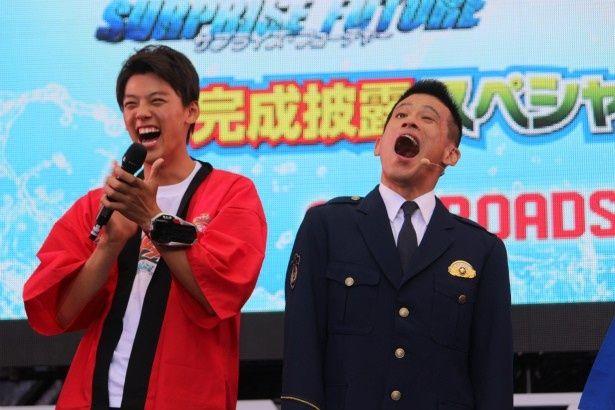 『仮面ライダードライブ』の竹内涼真が柳沢慎吾のネタに大受け