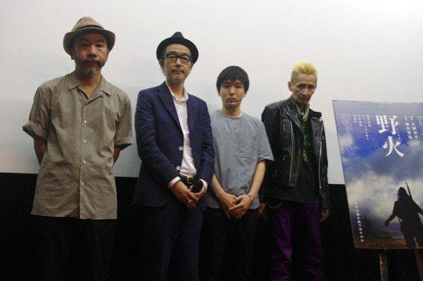 映画『野火』の初日舞台挨拶が東京・渋谷ユーロスペース2で開催