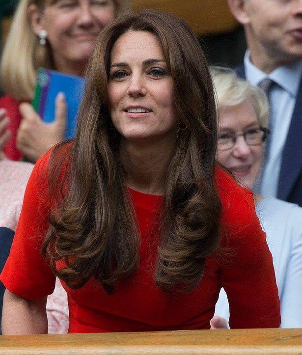 美しいヘアスタイルのキャサリン妃