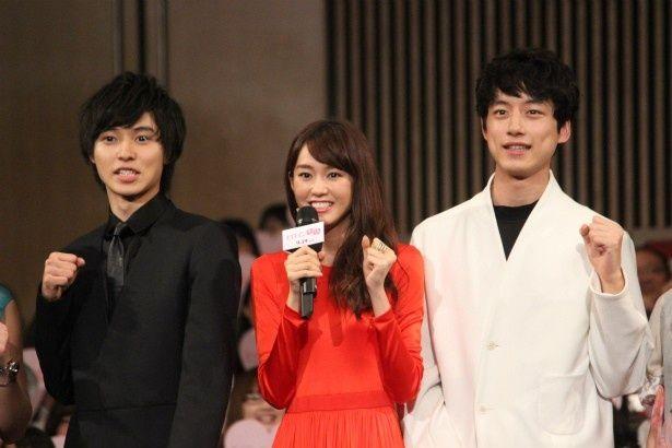 桐谷美玲、山崎賢人、坂口健太郎が『ヒロイン失格』のジャパンにプレミアに登壇