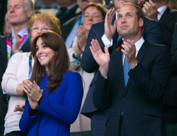 ラグビーワールドカップ2015を観戦したウィリアム王子とキャサリン妃