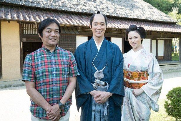 『超高速!参勤交代』の続編ロケで福島を訪れた佐々木蔵之介、深田恭子、本木克英監督
