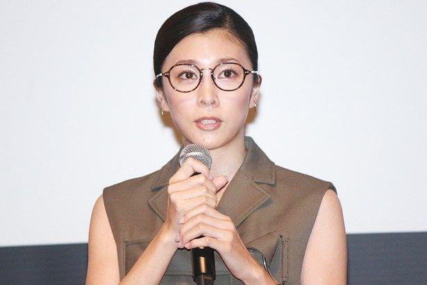 第28回東京国際映画の「ラインナップ発表会」に登場した竹内結子