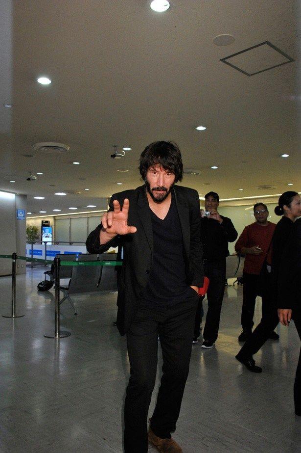 主演映画『ジョン・ウィック』(日本10月16日公開)のプロモーション活動のために来日したキアヌ・リーブス