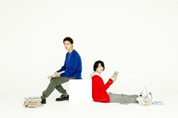 インタビュー中、好きなジャンプ作品などを語り合っていた佐藤健&神木隆之介