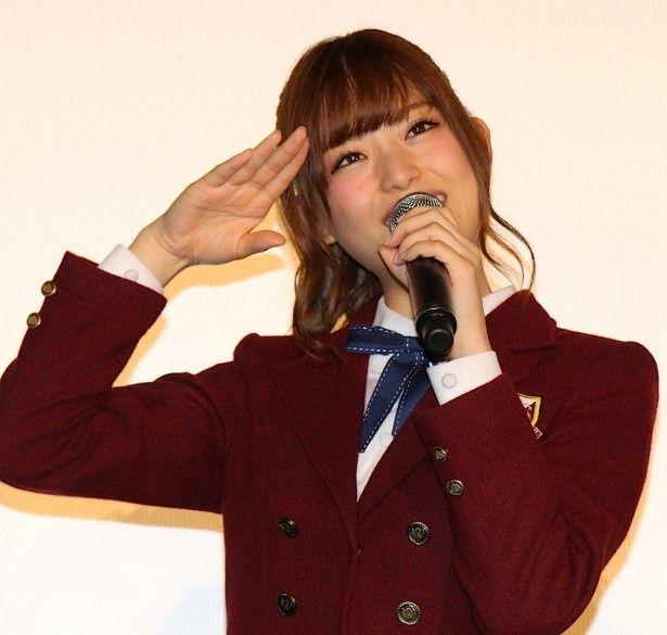 乃木坂46の松村沙友理が興奮気味にトーク!