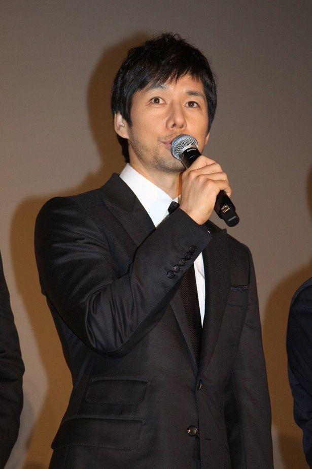 主人公の倉木を演じた西島秀俊。劇場版からの新キャスト・ビートたけしとの共演に感激!