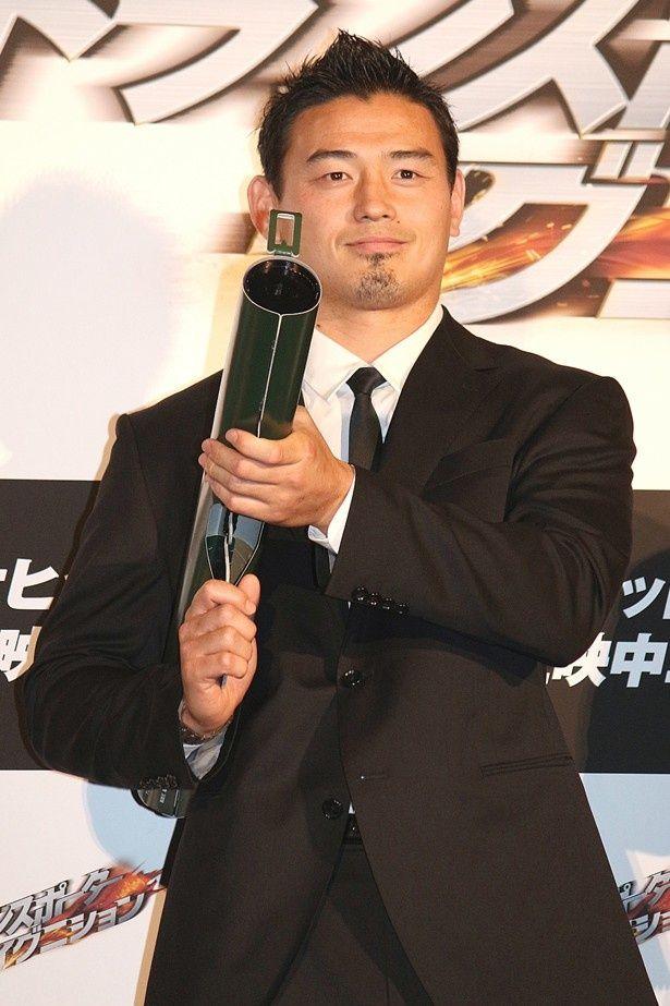 『トランスポーター イグニション』の公開記念イベントに登場した五郎丸歩