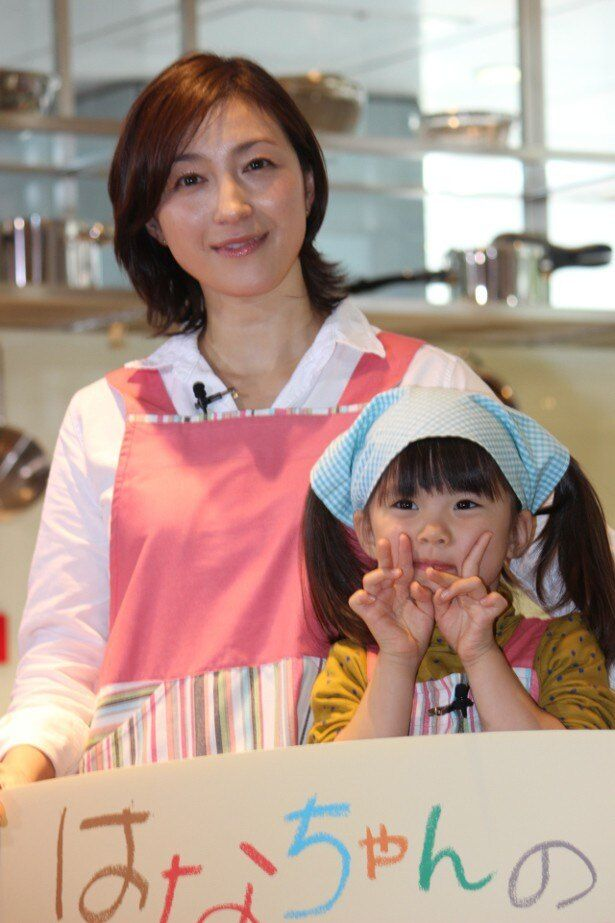 広末涼子と子役の新星・赤松えみながみそ汁作り