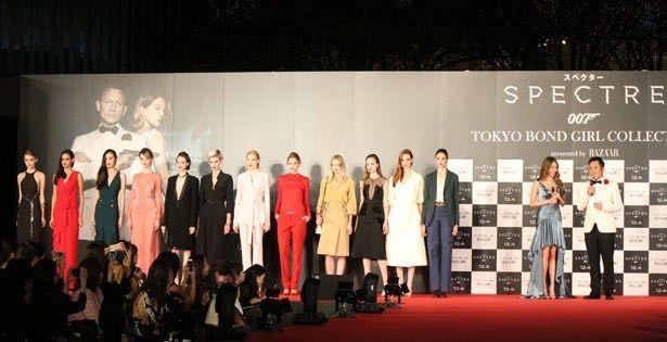 有田と道端と12名のモデルが一堂に。最後、何も言わずに退場していったモデルたちに有田は苦笑い…