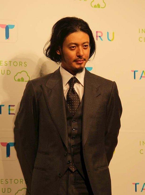 アパート経営プラットフォームサイト「TATERU」の新テレビCM発表会に出席したオダギリジョー