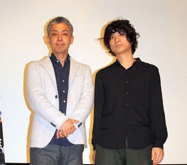 橋口亮輔監督とクリープハイプの尾崎世界観が登壇(左から)