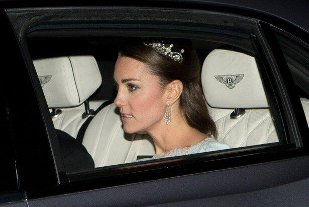 13年の年次晩餐会など、これまで何度かティアラを着用した姿を見せているキャサリン妃
