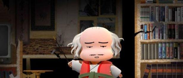 解説するキャラクターのモデルは宮本武蔵