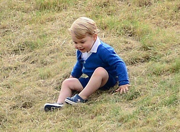 以前、キャサリン妃とポロ観戦に行った際のジョージ王子