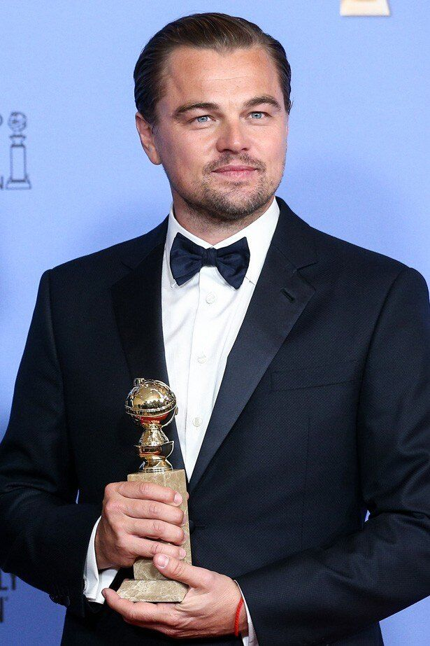ゴールデン・グローブ賞で主演男優賞を受賞したレオナルド・ディカプリオ