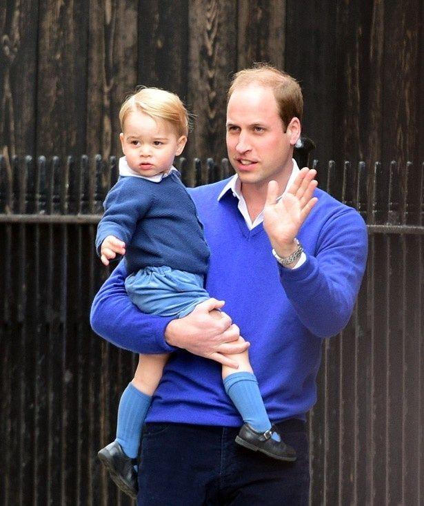 ジョージ王子と父ウィリアム王子