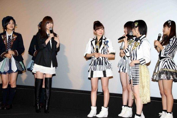 NMB48の舞台あいさつに乱入したHKT48