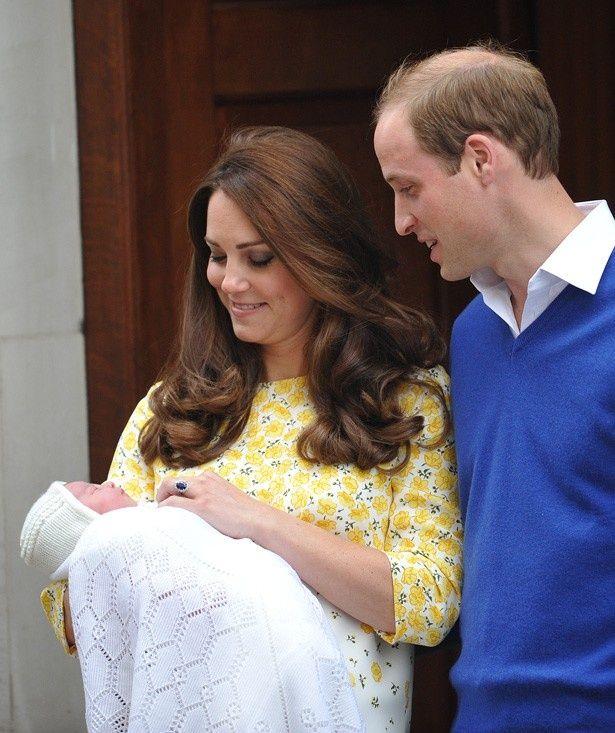 昨年5月に誕生したばかりのシャーロット王女