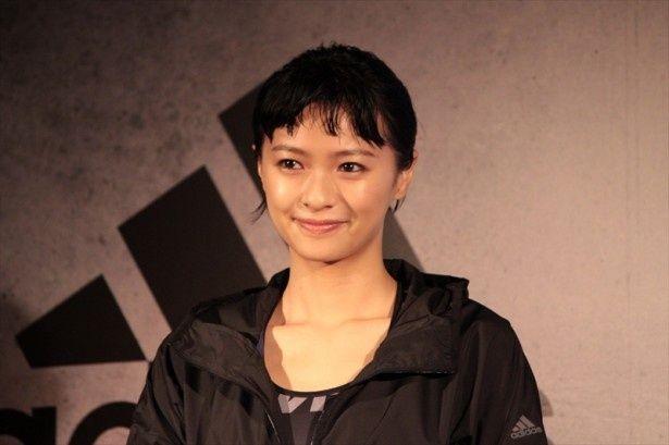 アディダス ジャパンのプレス発表会に榮倉奈々が同社のトレーニングアンバサダーとして登場