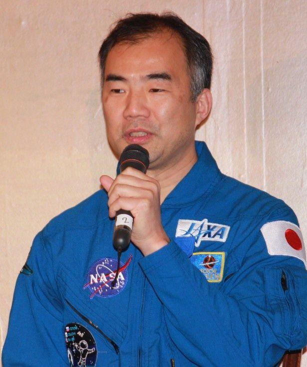 宇宙飛行士の野口総一がイベントに登壇