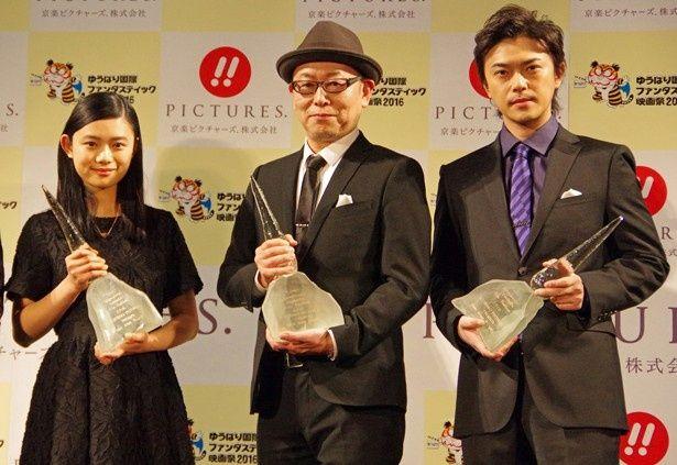 京楽ピクチャーズ.PRESENTS ニューウェーブアワードを受賞した土井裕泰監督、勝地涼、杉咲花