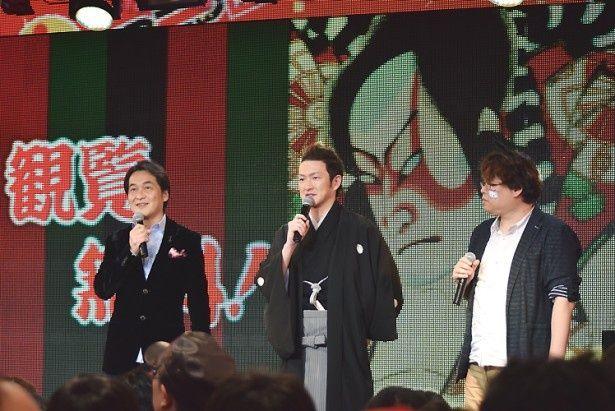 中村獅童も登壇し、「ニコニコ超会議2016」で実施される「超歌舞伎」の見どころを語った