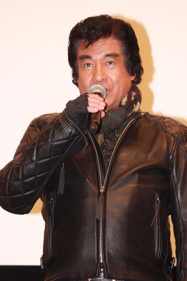 本郷猛こと仮面ライダー1号役の藤岡弘、