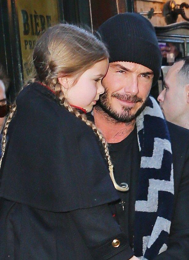 デビッド・ベッカムと娘のハーパー