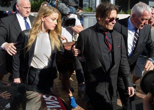 オーストラリアの裁判所を訪れたジョニー・デップとアンバー・ハード
