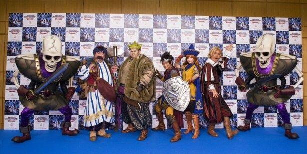 中川翔子(アリーナ役)、オーディションを勝ち抜いた勇者・松浦司など、「ドラゴンクエスト ライブスペクタクルツアー」のキャストが揃い踏み