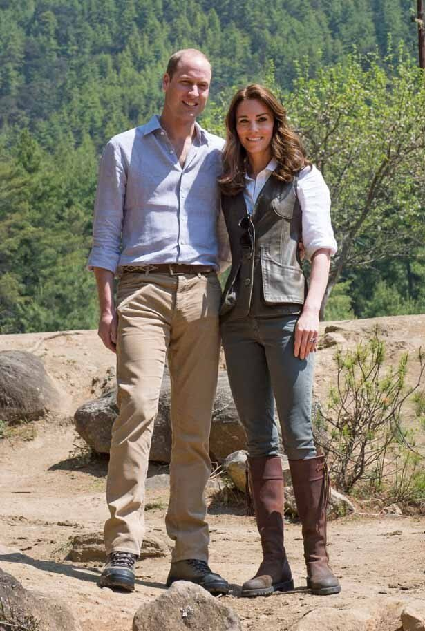 ウィリアム王子と一緒にハイキングをしたキャサリン妃