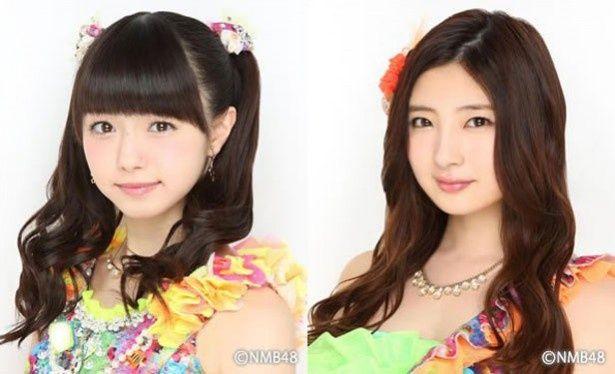 NMB48次世代を担う市川美織(左)と岸野里香(右)