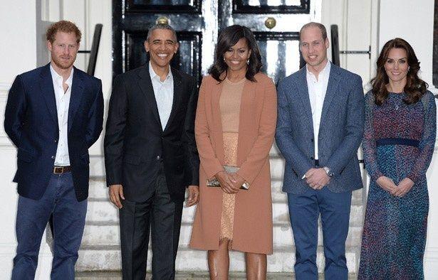 米オバマ大統領とミシェル夫人がイギリスを訪問