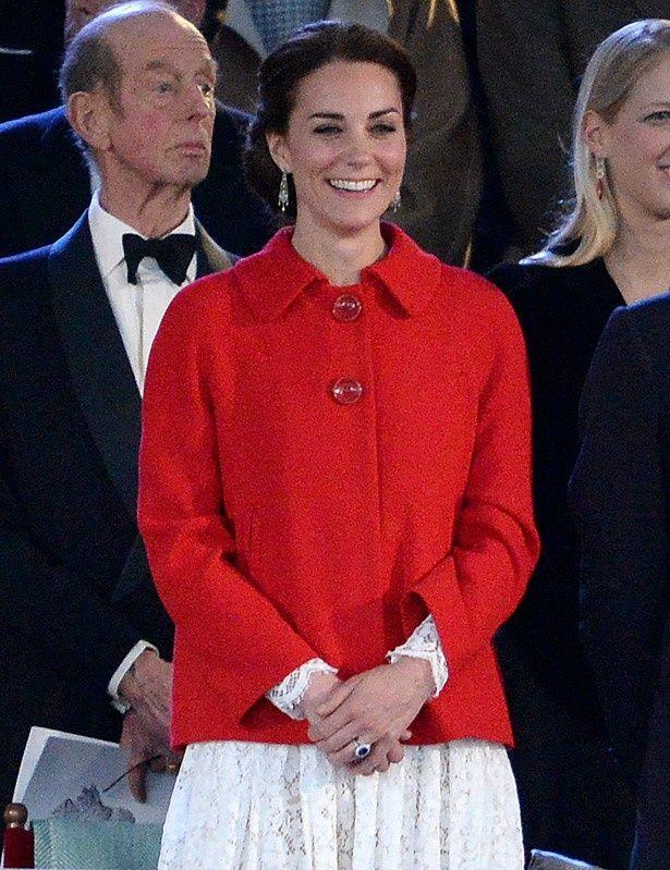 エリザベス女王の90歳の誕生日を祝う特別ガラに出席したキャサリン妃