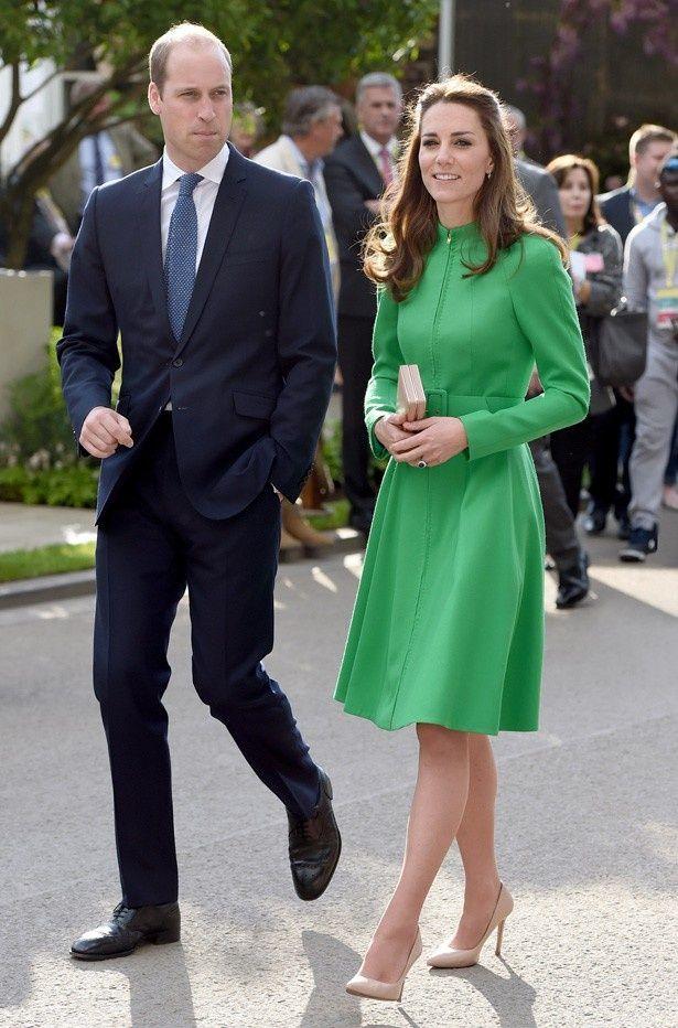 フラワー・ショーを訪れたウィリアム王子とキャサリン妃