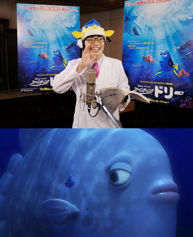 『ファインディング・ドリー』で字幕版&吹替版の海洋生物監修とマンボウ役で声優を務めるさかなクン