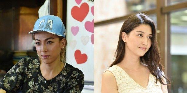 「せいせいするほど、愛してる」でナオキ役のGENKINGと小川遥香役の橋本マナミ(写真左から)
