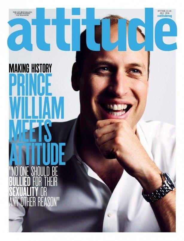 「Attitude」の表紙を飾ったウィリアム王子