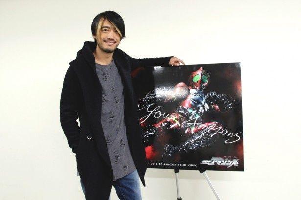 「仮面ライダーアマゾンズ」で鷹山仁を演じる谷口賢志