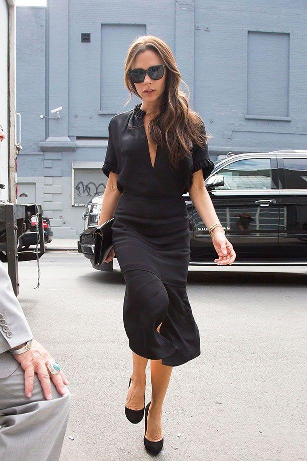 ヴィクトリアはハイヒールと黒を取り入れたファッションでイメージが定着していた