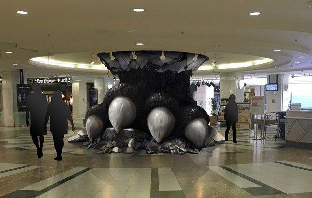 サンシャインシティに巨大なゴジラの足が出現!