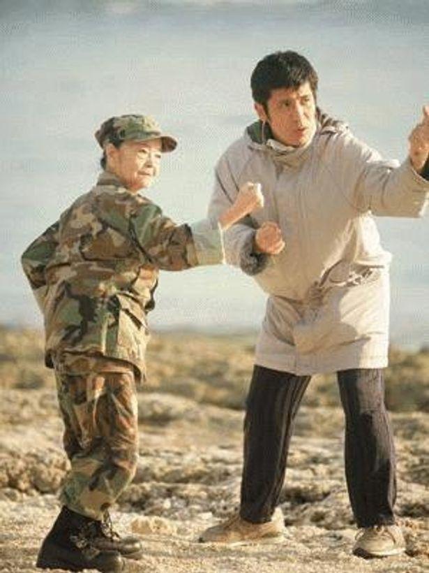 監督デビュー作だけに、演技指導にも力が入るゴリ監督