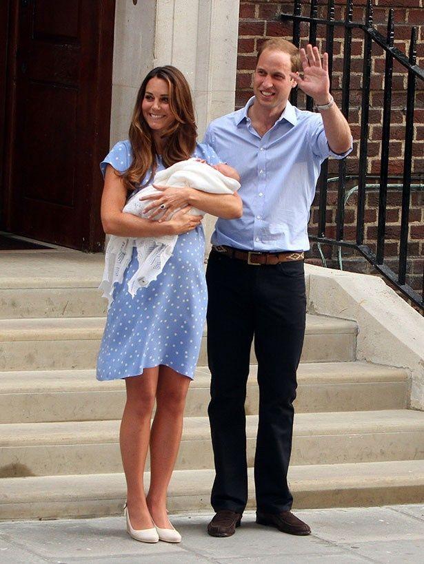 ジョージ王子が誕生し、キャサリン妃と共に退院した際は、世界中の注目が集まった