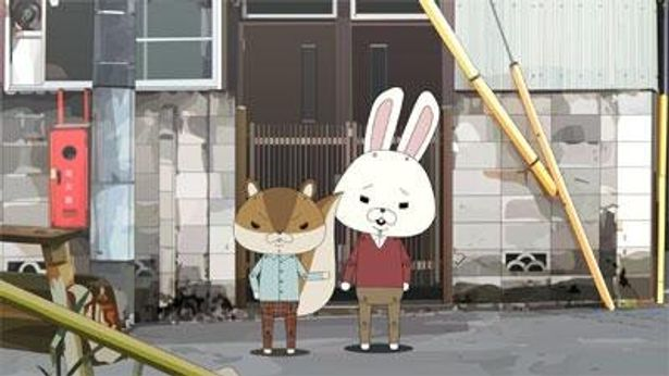 紙ウサギのロペと紙リスのアキラ先輩のコミカルな掛け合いは、まるで漫才。『紙兎 ロペ』は現在上映中