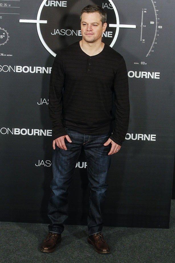 新作『ジェイソン・ボーン』の北京プレミアに、マットが驚きの髪型で登場した