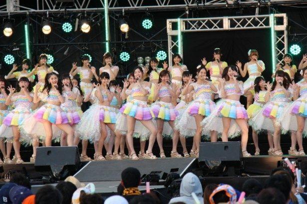 「美浜海遊祭2016」で恒例のSKE48によるスペシャルライブが行われた