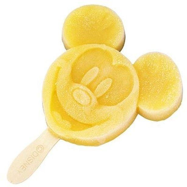 両パークのアイスクリームワゴンで買える、ミッキーマウス・オレンジバー(¥260)ミッキーシェイプがキュート